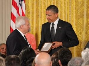 Medal w imieniu nieżyjącego Karskiego z rąk Obamy odebrał minister Rotfeld /Paweł Żuchowski /RMF FM