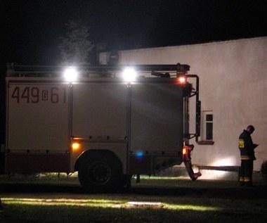 Pożar w zakładzie tekstylnym w Łodzi