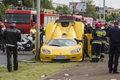 Poznań: Samochód wjechał w grupę ludzi. Są ranni