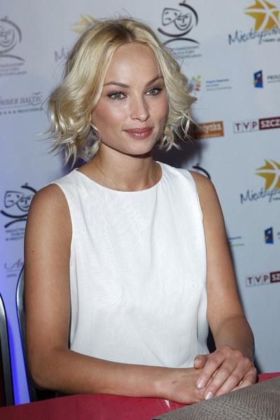 Weronika Książkiewicz podczas festiwalu gwiazd w Międzyzdrojach