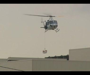 Ewakuacja helikopterem z dachu budynku Marynarki Wojennej