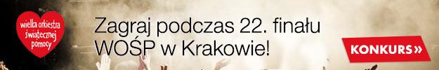Zagraj podczas 22. Finału WOŚP w Krakowie!