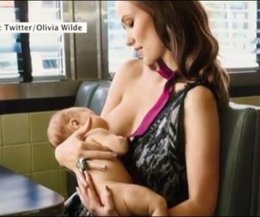 Olivia Wilde karmiła synka piersią w restauracji