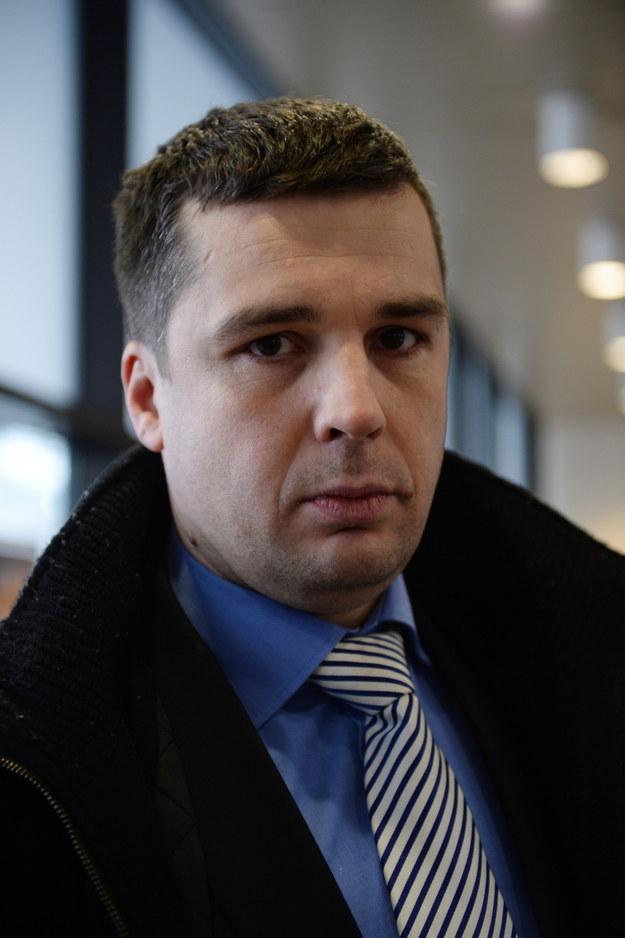 Dziennikarz TV Republika, Michał Rachoń, podczas konferencji - 0003RYZSWC00YWON-C116