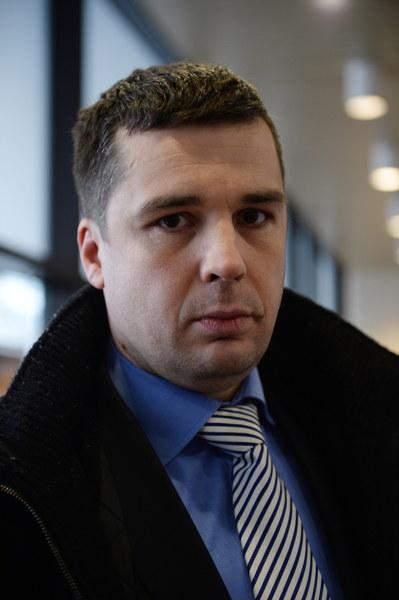 Dziennikarz TV Republika, Michał Rachoń, podczas konferencji - 0003RYZSWC00YWON-C317-F3