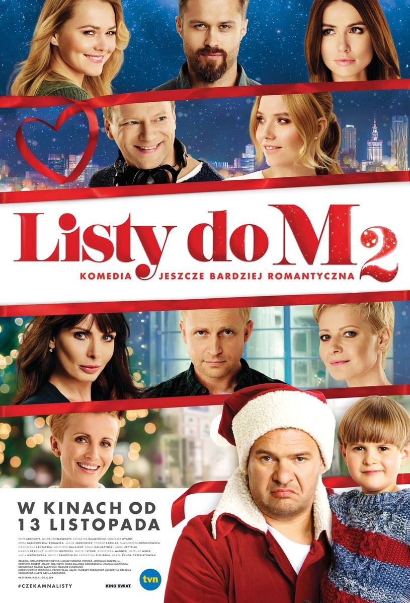 """Prezentujemy oficjalny plakat filmu """"Listy do M. 2"""" - kontynuacji najpopularniejszej komedii wyświetlanej w polskich kinach w ciągu ostatnich 25 lat. Utrzymany w świątecznej stylistyce poster zdradza, czego po """"dwójce"""" mogą spodziewać się widzowie."""