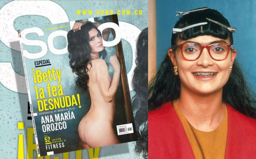 """Kolumbijska gwiazda telenoweli """"Yo Soy Betty"""" - Ana Maria Orozsco - rozebrała się na okładce magazynu dla panów """"SoHo""""."""