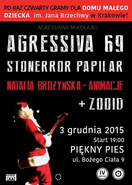 Już od 4 lat grupa Agressiva 69 angażuje się w pomoc podopiecznym Domu Małego Dziecka im. Jana Brzechwy w Krakowie.