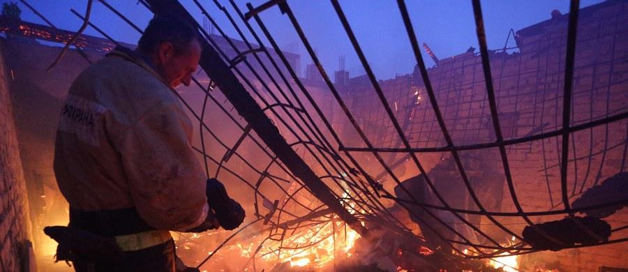 Starszy mężczyzna zginął w pożarze w miejscowości Gołąbek koło Siedlec na Mazowszu. Jego drewniany dom doszczętnie spłonął.