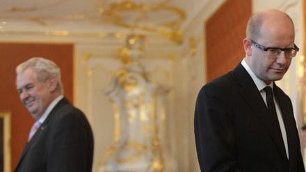 Prezydent i premier Czech pokłócili się o uchodźców