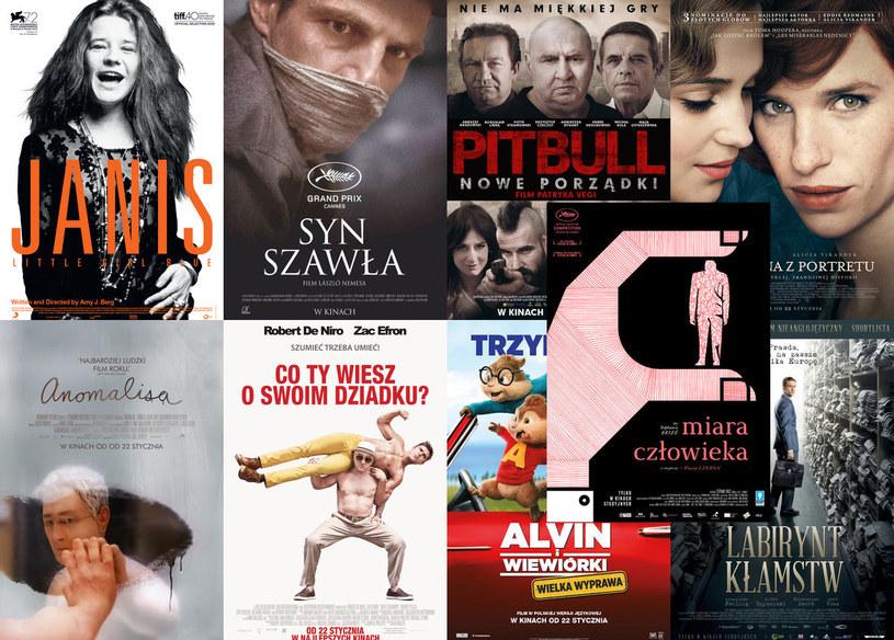 """Aż 9 filmów trafia na ekrany polskich kin w piątek, 22 stycznia. Wśród nich: dokumentalny film o Janis Joplin, wstrząsający węgierski """"Syn Szawła"""", """"Pitbull. Nowy początek"""" Patryka Vegi, mający szansę na aktorskie Oscary """"Dziewczyna z portretu"""" czy komedia """"Co ty wiesz o swoim dziadku?"""" z Robertem De Niro i Zakiem Efronem."""