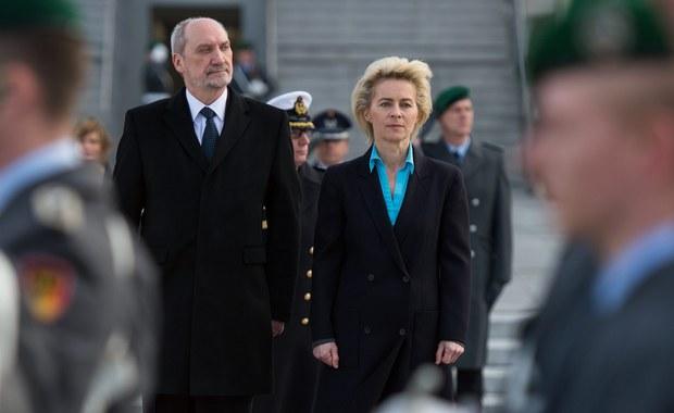 Polska i Niemcy zgadzają się co do tego, iż największym wyzwaniem dla pokoju jest agresywna polityka Rosji - oznajmił minister obrony narodowej Antoni Macierewicz po spotkaniu w Berlinie z szefową resortu obrony Niemiec Ursulą von der Leyen.