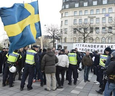 Polacy zatrzymani po demonstracji w Sztokholmie. Mieli czapki z napisem Lech Poznań