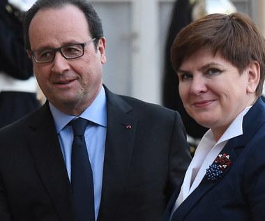 """Szydło i Hollande rozmawiali w Paryżu o unijnym kompromisie w sprawie """"Brexitu"""""""