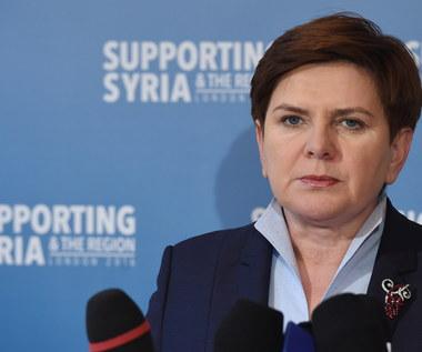 Beata Szydło: Polska przeznaczy 4,5 mln euro na kryzys humanitarny