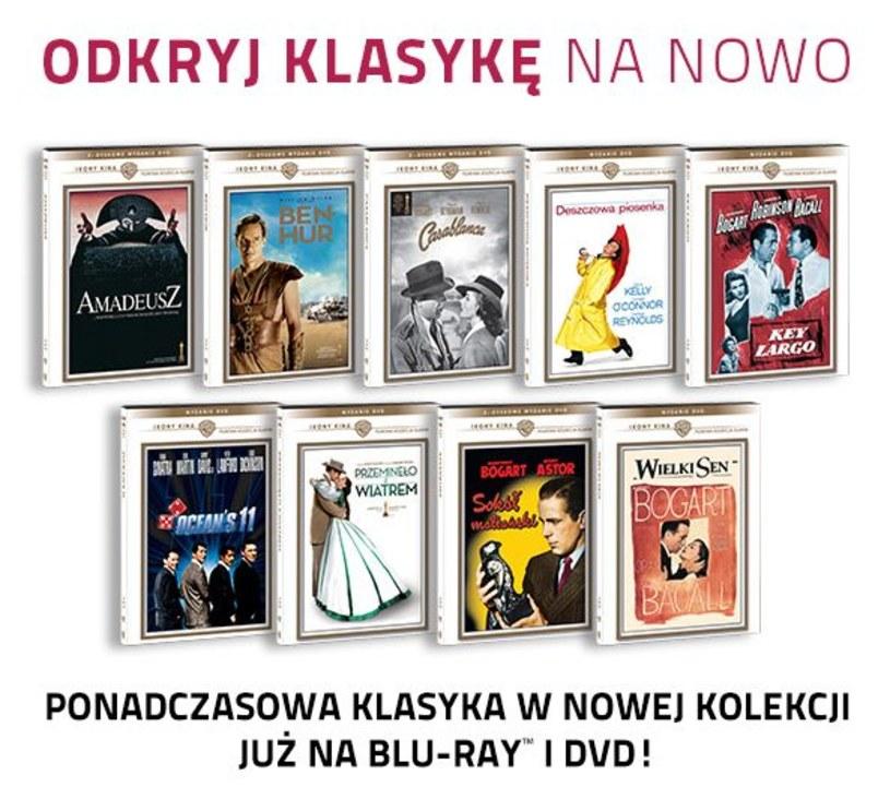"""Odkryj na nowo klasykę kina. Na Blu-ray i DVD trafi ponad 30 pozycji, kamieni milowych kinematografii. Wśród nich """"Śpiewak Jazzbandu"""" - uznawany za pierwszy film dźwiękowy, nominowane i nagradzane Oscarami: """"Casablanca"""", """"Ben Hur"""", """"Przeminęło z wiatrem"""", """"Key Largo"""", """"Sokół maltański"""" czy """"Amadeusz""""."""