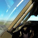 Obłędny widok podczas lądowania samolotu