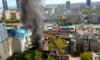 Warszawa: Pożar w centrum miasta