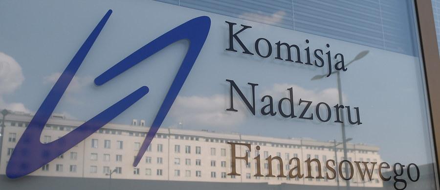 W południe do siedziby Komisji Nadzoru Finansowego weszli agenci Centralnego Biura Antykorupcyjnego. Zabezpieczyli dokumenty - poinformował PAP Piotr Kaczorek z wydziału komunikacji społecznej CBA.