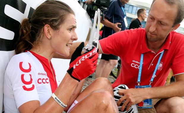Maja Włoszczowska płakała po pechowym wyścigu o mistrzostwo świata w kolarstwie górskim w czeskiej miejscowości Nove Mesto na Morave. Zamiast niemal już pewnego srebrnego medalu, uplasowała się tuż za podium. Powodem była przebita dętka na ostatniej rundzie.