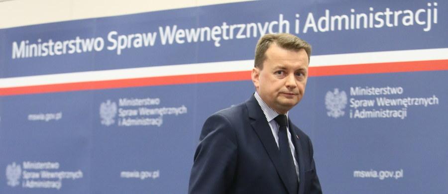 """""""Służby nie raportują, by w sprawie lokalizacji uroczystości ŚDM w podkrakowskich Brzegach były jakiekolwiek problemy"""" - powiedział szef MSWiA Mariusz Błaszczak na konferencji prasowej."""