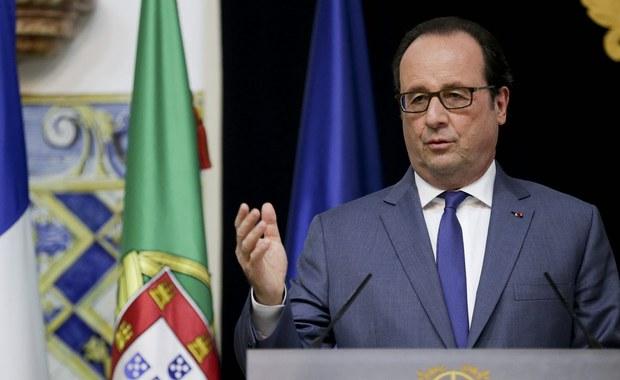 """Francuski prezydent Francois Hollande, który złożył wizytę w Lizbonie powiedział, że teraz, po serii zamachów terrorystycznych, Europa musi się zjednoczyć wokół """"najważniejsze priorytetu"""", czyli kwestii dotyczących bezpieczeństwa i obronności."""