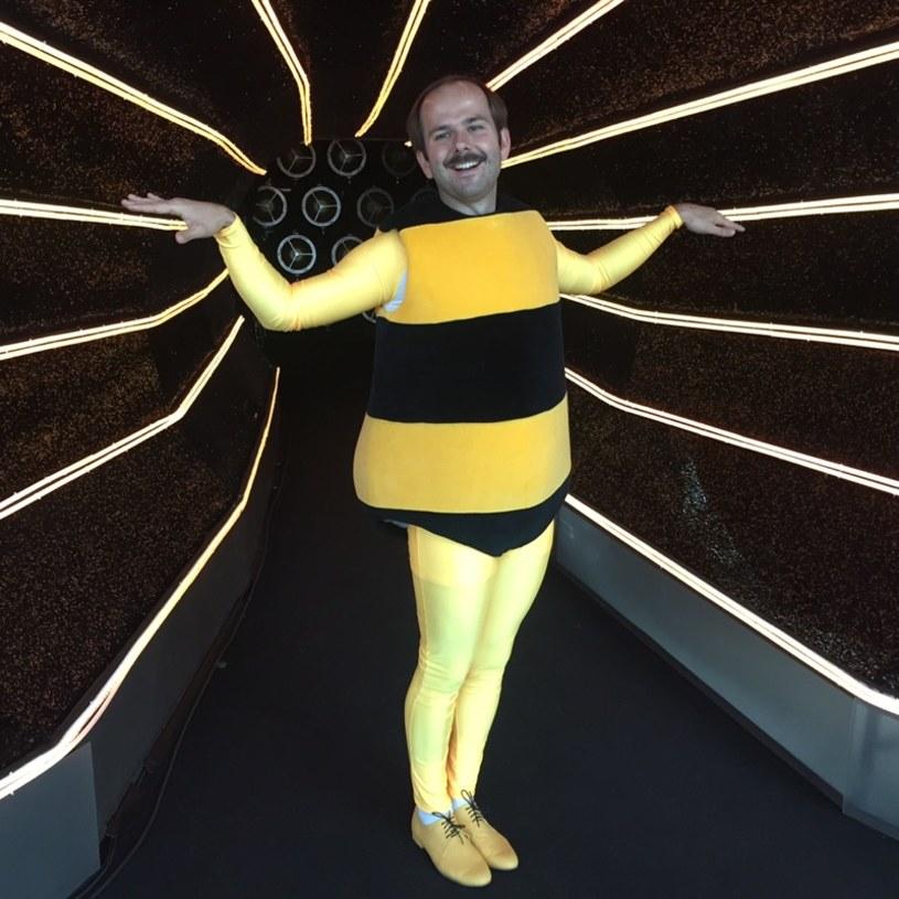 """W piątek w bajkowym odcinku """"Tańca z Gwiazdami"""" Sławomir wcieli się w rolę Pszczółki Mai. To może być jeden z zabawniejszych momentów programu."""