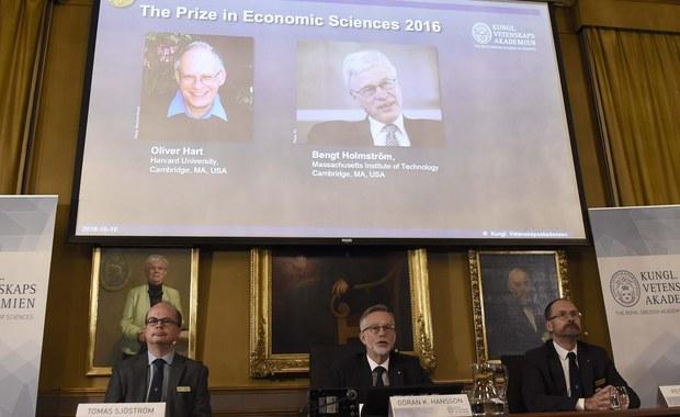 Tegoroczny Nobel w dziedzinie ekonomii został przyznany Oliverowi Hartowi i Bengtowi Holmströmowi. Zostali wyróżnieni za wkład w teorię kontraktu. Nagroda w dziedzinie ekonomii została ustanowiona w 1968 roku przez szwedzki bank centralny.