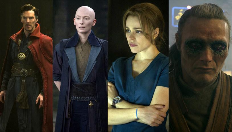 """Benedict Cumberbatch, Tilda Swinton, Rachel McAdams i Mads Mikkelsen - to aktorski kwartet, który zobaczymy w nowej produkcji Marvela """"Doktor Strange""""."""