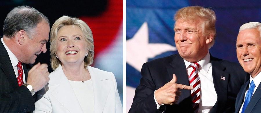 """Kandydat Republikanów Donald Trump dość niespodziewanie pokonał w wyścigu do Białego Domu demokratkę Hillary Clinton. Sondaże do ostatniej chwili wieściły zwycięstwo Clinton, jednak niemal wszystkie """"wahające się"""" stany poparły Donalda Trumpa. Tuż po ogłoszeniu wyników Hillary Clinton nie przemówiła do swoich wyborców. Szef sztabu John Podesta poprosił wówczas jej zwolenników o rozejście się. Była sekretarz Stanu Hillary Clinton postanowiła wystąpić publicznie po przegranych wyborach. Podczas przemówienia pogratulowała Donaldowi Trumpowi i podziękowała swoim wyborcom. Śledźcie naszą relację minuta po minucie!"""