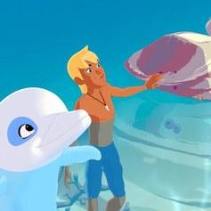 Biały delfin Um