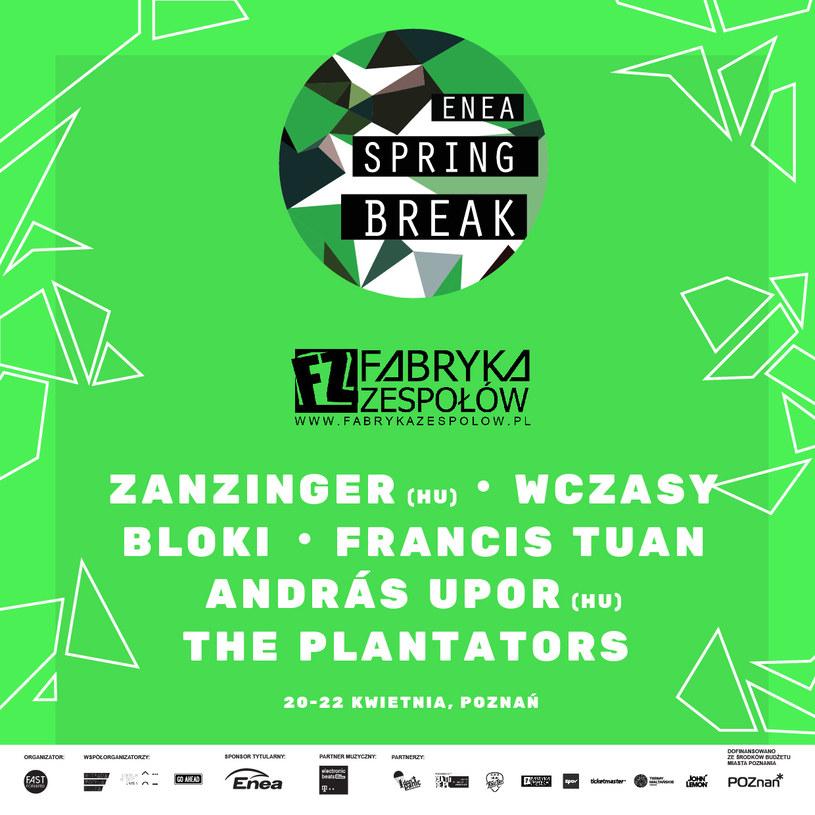 Organizatorzy Enea Spring Break 2017 ogłosili kolejnych artystów, którzy wystąpią w kwietniu w Poznaniu.