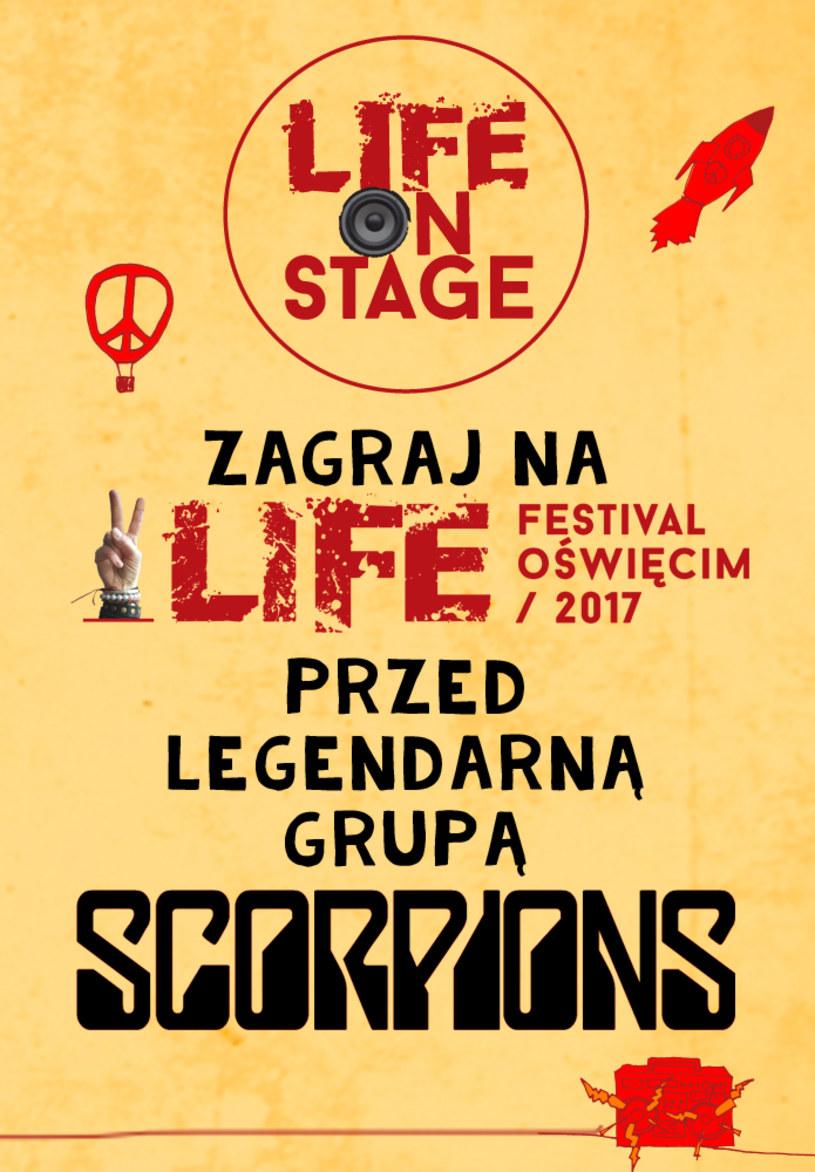 Rozpoczyna się kolejna edycja konkursu Life On Stage - zwycięzca wystąpi 24 czerwca podczas finałowego koncertu Life Festival Oświęcim z udziałem m.in. LP i grupy Scorpions. Zapraszamy do zgłaszania!