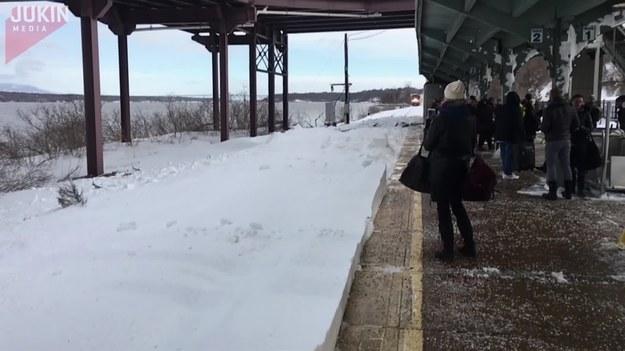 Pociąg wjeżdżając na peron w miejscowości Rhinecliff w stanie Nowy Jork wzbił takie tumany śniegu, że zasypał ludzi stojących przy peronie. Zazwyczaj pociągi wjeżdżające na stacje rozwijają znaczne mniejsze prędkości, dlatego pasażerowie niczego się nie spodziewali.  Był to pierwszy pociąg Amtrak po Winter Storm Stella przyjść do stacji Rhinecliff więc utwory zostały objęte. Pociągi zwykle wchodzi wiele wolniej do stacji, więc wszyscy byli zaskoczeni szybkością podania w (a więc fala śniegu).