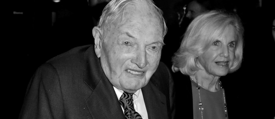 Nie żyje najstarszy miliarder świata David Rockefeller. Zmarł podczas snu w swoim domu w Pocantico Hills w stanie Nowy Jork. Miał 101 lat.