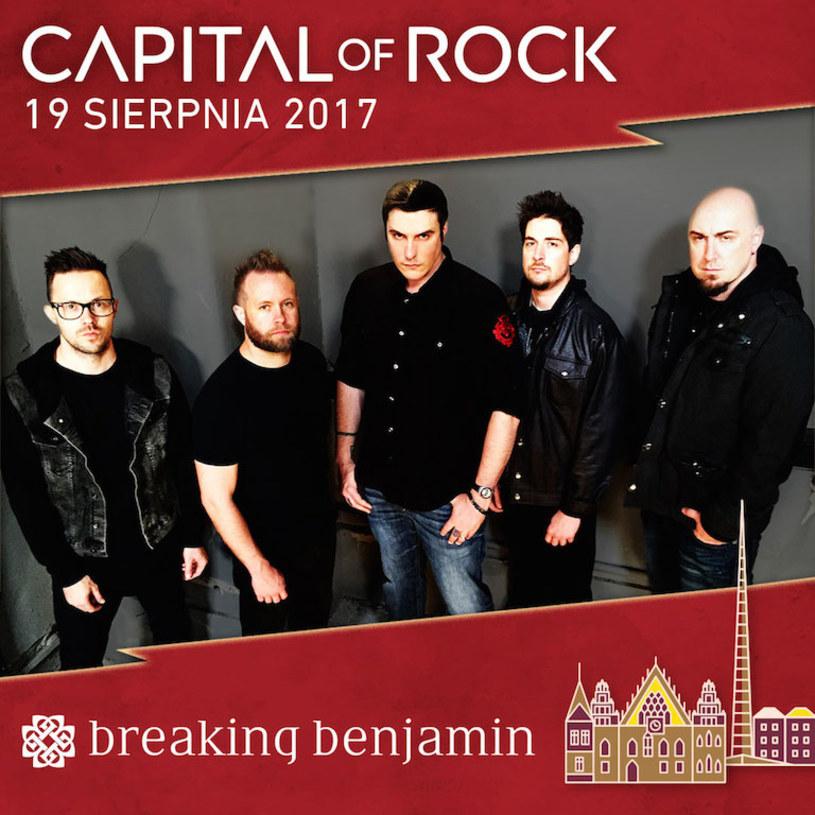 Amerykańska grupa Breaking Benjamin dołącza do składu Capital of Rock na stadionie we Wrocławiu (19 sierpnia).