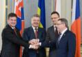 Ukraina: Petro Poroszenko spotkał się z szefami MSZ Czech, Słowacji i Węgier