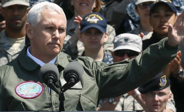 """Wiceprezydent USA Mike Pence ostrzegł Koreę Północną, by lepiej nie sprawdzała możliwości amerykańskich sił zbrojnych. """"Miecz czeka w gotowości"""" - oświadczył. Amerykański polityk przebywa z wizytą w Japonii."""
