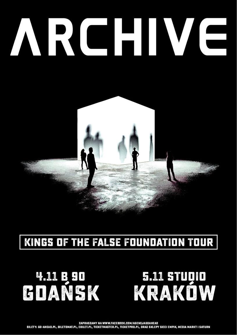 W listopadzie Archive wystąpi na dwóch koncertach w Polsce. Zespół zagra 4 listopada w gdańskim B90 i 5 listopada w krakowskim klubie Studio.