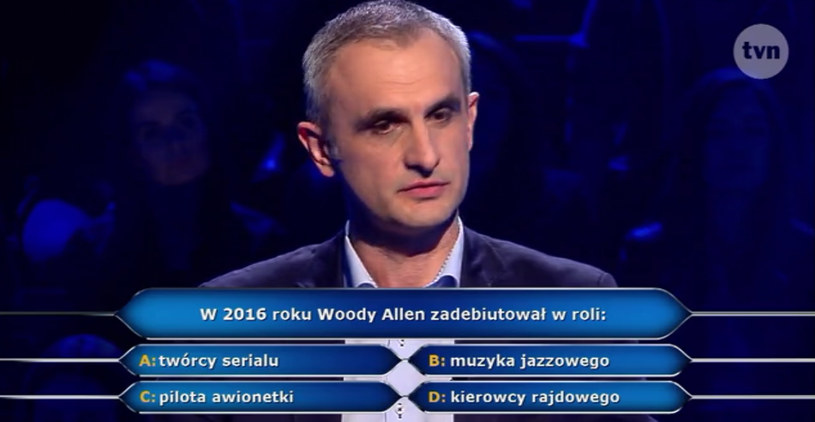 """W najnowszym odcinku teleturnieju """"Milionerzy"""" znowu pojawiło się pytanie związane z kinem. Czy uczestnik znał poprawną odpowiedź?"""