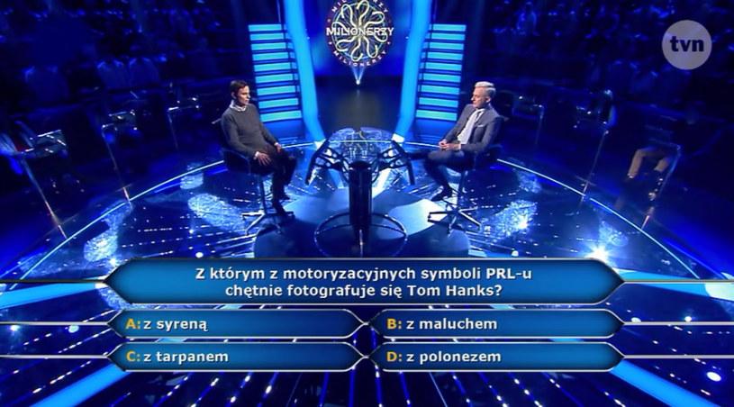 """W ostatnim odcinku """"Milionerów"""" pojawiło się pytanie związane z motoryzacyjną fascynacją hollywoodzkiego gwiazdora Toma Hanksa. Znalibyście odpowiedź?"""