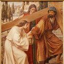 Szymon z Cyreny zamiast Jezusa na krzyżu