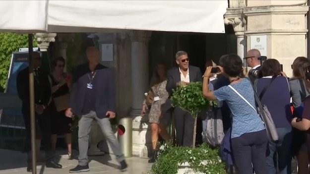 """Wenecja, Włochy. Trwa Międzynarodowy Festiwal Filmowy w Wenecji. To tutaj George Clooney postanowił pokazać wyreżyserowany przez siebie film """"Suburbicon"""". W głównych rolach zobaczymy Matta Damona i Julianne Moore. Aktor, który jest bliskim przyjacielem Clooneya wyznaje, że gwiazdor jest zakochany we Włoszech. - Włosi go uwielbiają. Gdziekolwiek pójdzie, ludzie krzyczą: """"Georgio! Georgio!"""". Jest jak król. Król Wenecji - powiedział. (Associated Press/x-news)"""