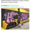Warszawa: Pracownik zajezdni przywiązał graficiarza łańcuchem do tramwaju