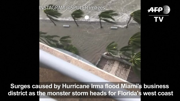 Huragan Irma. Miami pod wodą.