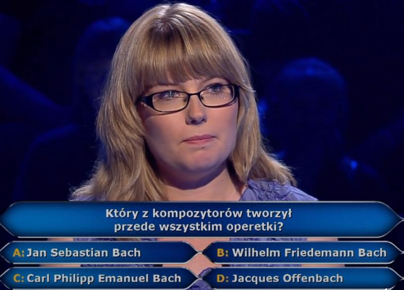 """250 tys. zł na razie ma na koncie Alicja Bańczyk w """"Milionerach"""". Dziś (14 września) doktorantka UJ będzie kontynuować grę o główną wygraną."""