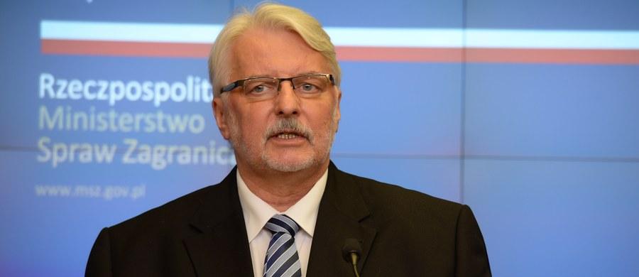 """Szef MSZ Witold Waszczykowski odnosząc się w rozmowie z PAP do reparacji od Niemiec, ocenił, że """"kiedy będziemy mieli jasność, co do kwestii prawnej, strat ludzkich, gospodarczych, to trzeba będzie te elementy osadzić w pewnym kontekście bieżącej polityki międzynarodowej, bilateralnej polityki polsko-niemieckiej i to wymaga decyzji daleko wykraczającej poza MSZ""""."""