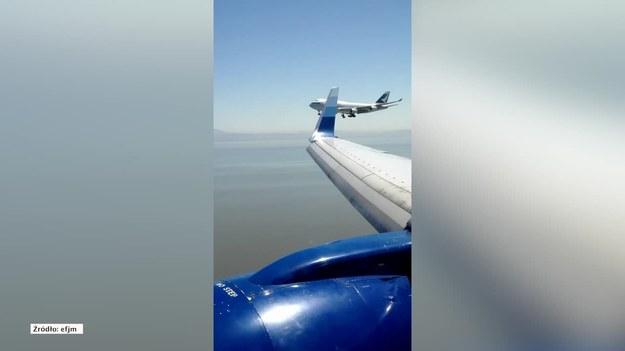 Do bliskiego spotkania doszło w przestrzeni powietrznej w San Francisco. Dwa samoloty podchodzące do lądowania zbliżyły się do siebie na bardzo małą odległość. Wyglądało to niebezpiecznie. Jednak wszystko zakończyło się szczęśliwie i obydwie maszyny wylądowały bezpiecznie. (STORYFUL/x-news)