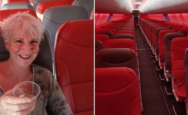 """Kupiła bilet za 46 funtów, by z Glasgow dotrzeć na grecką Kretę. Nie spodziewała się jednak, że będzie jedyną pasażerką w mieszczącym prawie 190 osób samolocie. Karon Grieve, autorka m.in. książek kucharskich, opisała swoją podróż jako """"fantastyczną""""."""