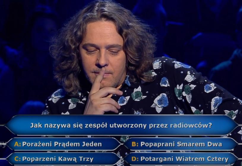"""Kolejne muzyczne pytanie w """"Milionerach"""" - znalibyście odpowiedź?"""